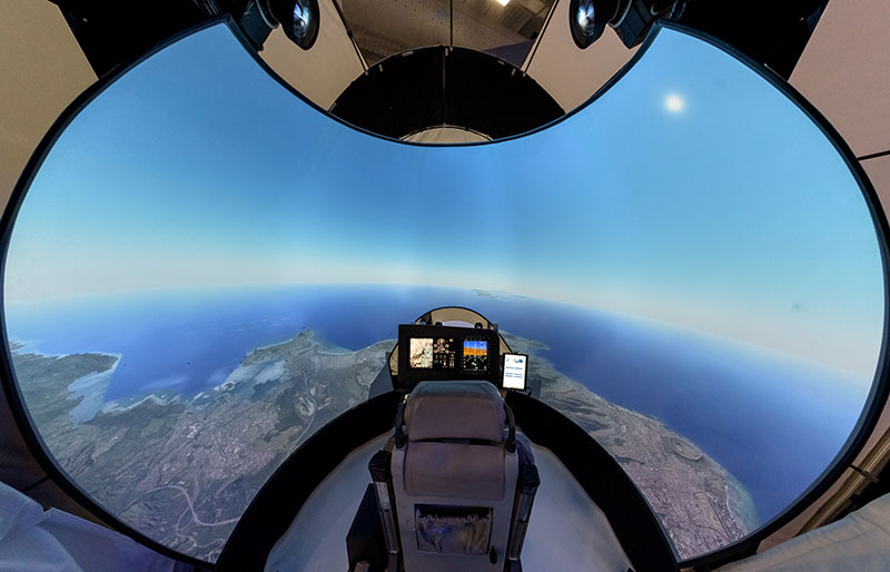 TD Series Front Projected Dome Display 550 Hawk