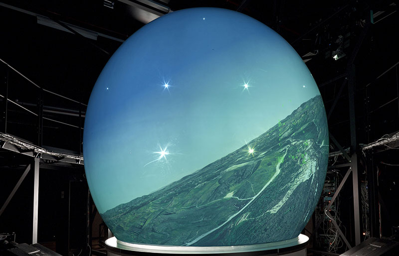 Rear Projected Dome Display 10