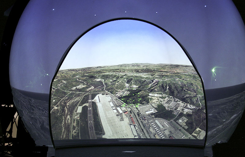 Rear Projected Dome Display 40